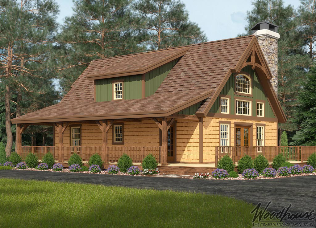 Timber frame home plans woodhouse the timber frame company for Timber house design