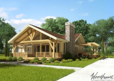 Ranch homes series woodhouse the timber frame company for Timber frame ranch home plans