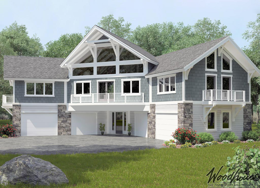 Timber frame home plans woodhouse the timber frame company for Coach house plans
