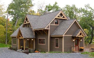 Custom Eastern White Pine Timber Frame Home – Lansing NY