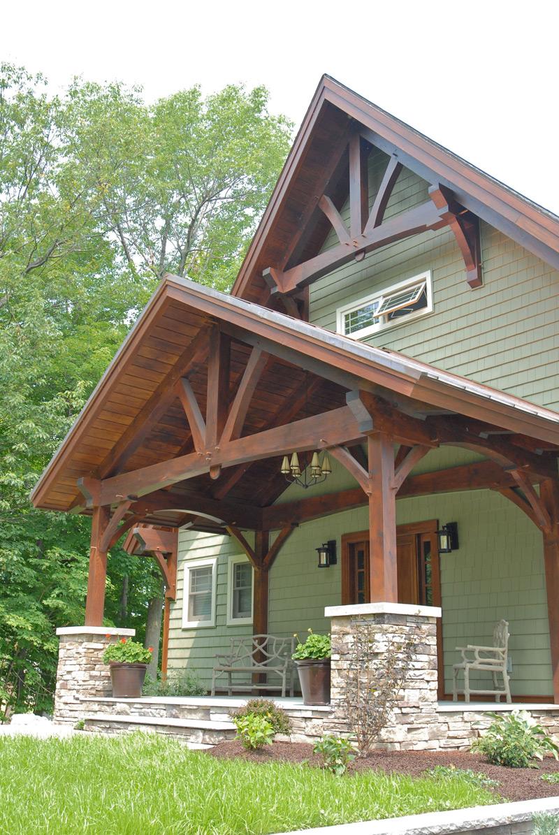 Custom Douglas Fir Timber Frame Boat House – Henderson NY - Woodhouse The Timber Frame Company
