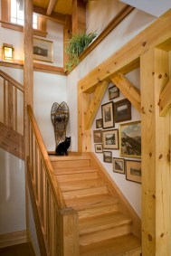 Custom Red Oak Timber Frame in Morristown, VT