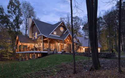 Custom Eastern White Pine Black Walnut Timber Frame – Finger Lakes NY