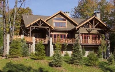 Custom Douglas Fir Timber Frame Home – Windham Mountain NY