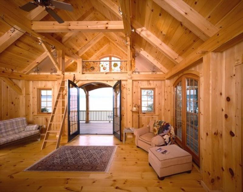 Custom Eastern White Pine Timber Frame Interlaken Ny
