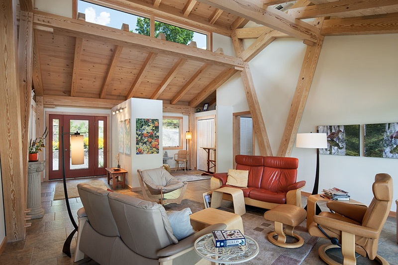 Baliview Southern Yellow Pine Timber Frame Home in Burdett NY