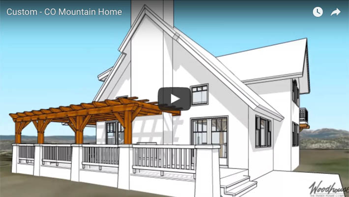 Custom Home in Colorado with a timber frame pergola - Woodhouse The ...