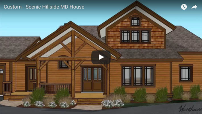 Custom Timber Frame Scenic Hillside Home in MD