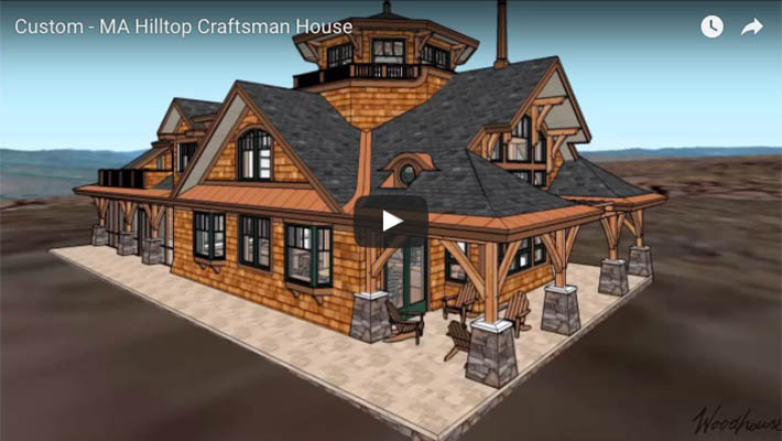 Hilltop Craftsman Timber Frame home in MA