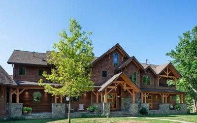 Great Camp Douglas Fir Timber Frame Home – Lawrenceville, PA
