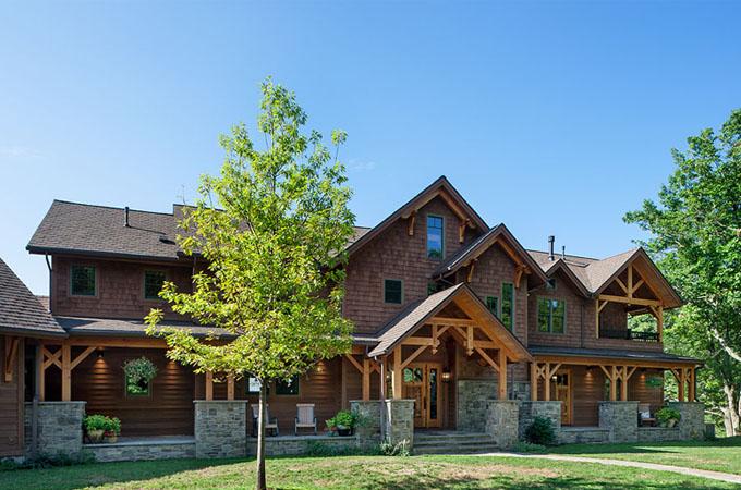 Great Camp Douglas Fir Timber Frame Home – Lawrenceville, PA