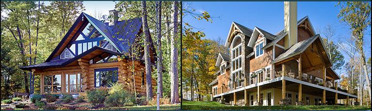 Log Homes vs Timber Frame Home Exteriors