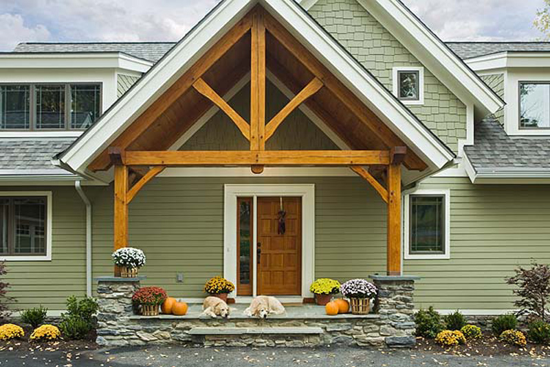 LakeView Southern Yellow Pine Timber Frame; Finger Lakes, NY