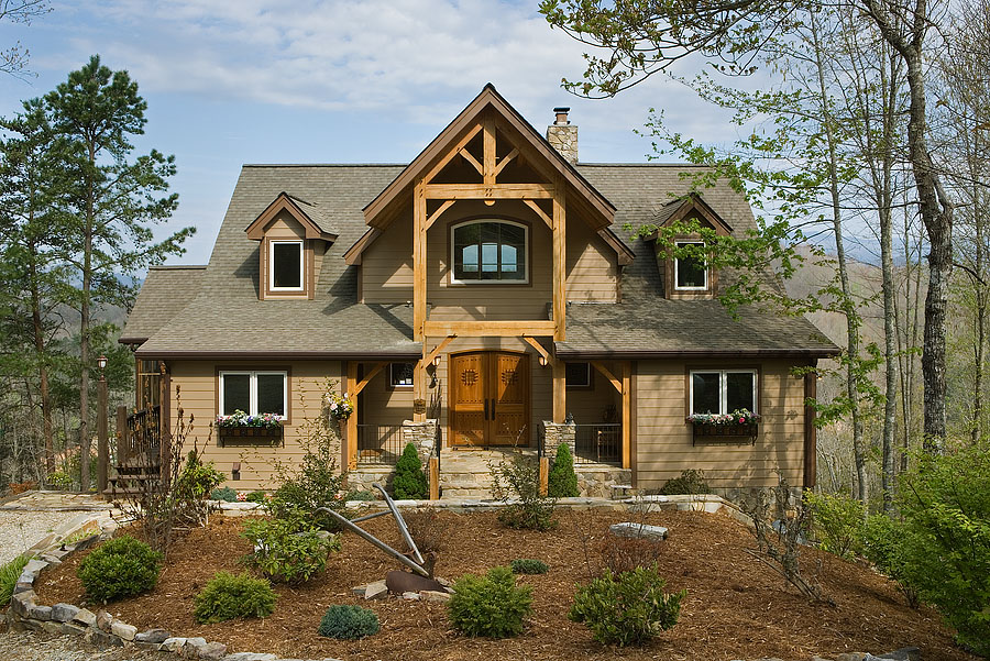 Custom Red Oak Timber Frame Home in Bryson City, NC