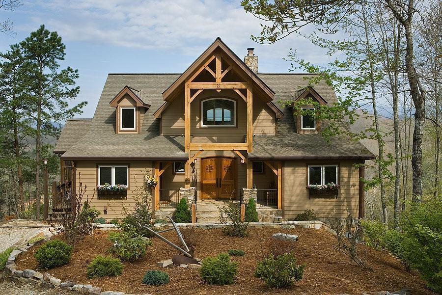 Custom Red Oak Timber Frame Home in Bryson City, NC