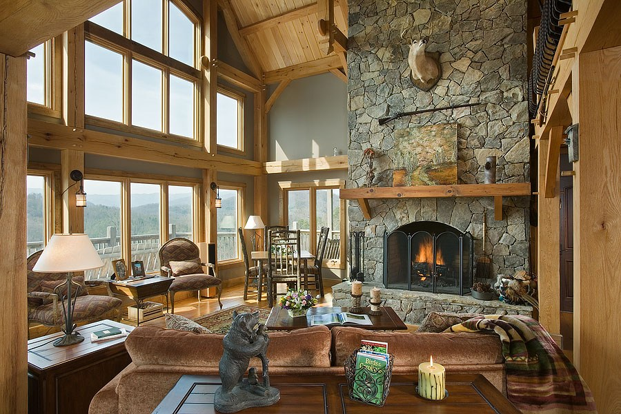 What Makes These 5 Timber Frame Fireplaces the Heart of a Home