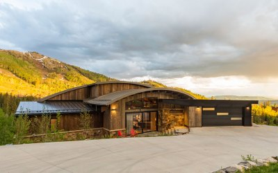 Custom Douglas Fir Timber Frame Home in Steamboat Springs, CO