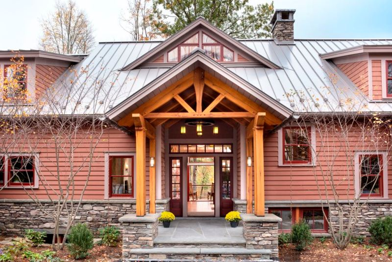 Cost to Build a Timber Frame - Home Entrance