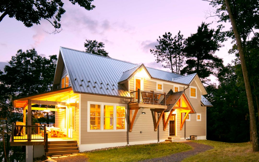 Custom Multi-Species Timber Frame Home in Hector, NY