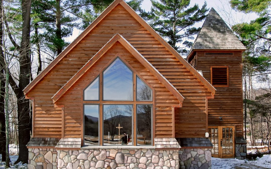 Bright Custom Timber Frame Chapel at the YMCA in Frost Valley, NY