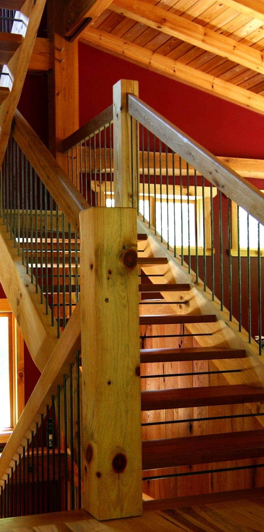 Types Of Timber Frame Stair Systems Timber Frame Hq | Tread Riser Staircase Design | Effective | Contemporary | Cad Detail | Folded Plate | Angled