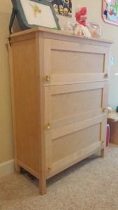 Maple Locking Storage Cabinet