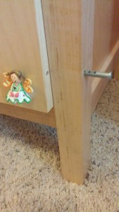 Maple Locking Storage Cabinet (Lock)