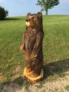 Timberjack chainsaw standing bear wood carving