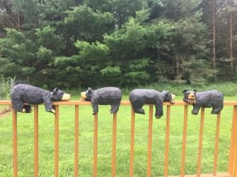 porch railing bears