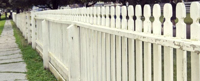 A white picket fence