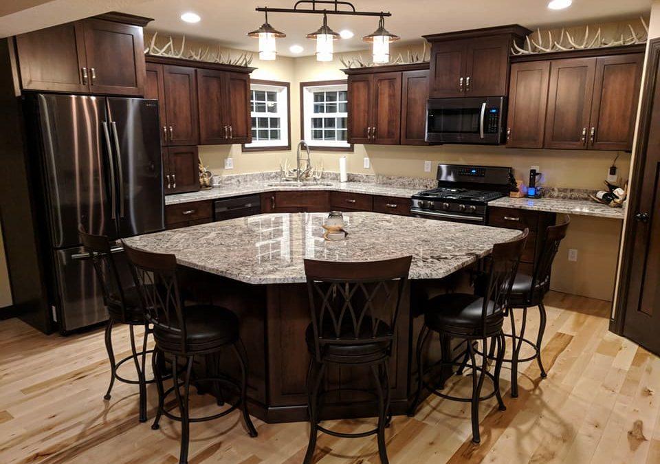 Kitchen Cabinets - Full Overlay Shaker Maple With Dark ... on Dark Maple Cabinets  id=96941