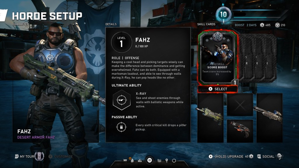 Gears 5 fahz horde character selection