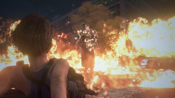 re3 remake jill and nemesis fire