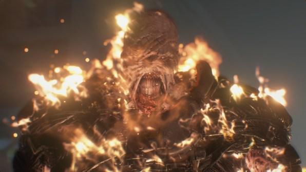 re3 remake nemesis burning