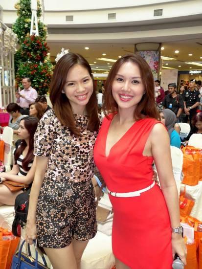 Mei Sze with MC Julie Woon