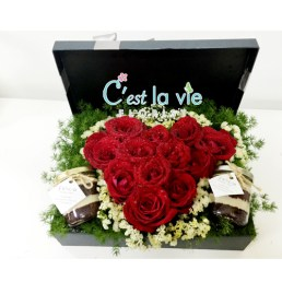 FLOWER BOX - [ Additional ] Red Velvet Cake in Jar -> RM 15/each