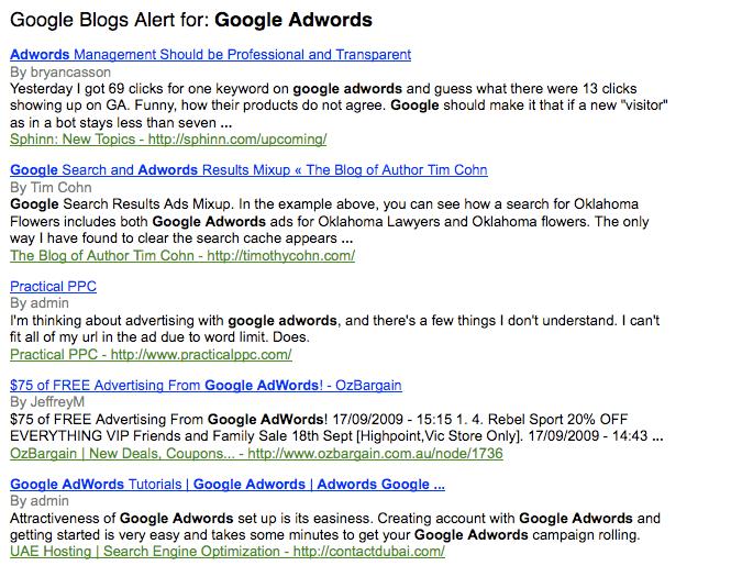 Google Blog Alerts