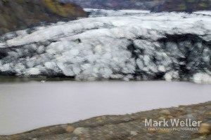 Timestack photography of abstract glacier