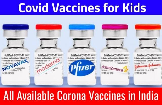 All Available Covid Vaccine For Kids in India