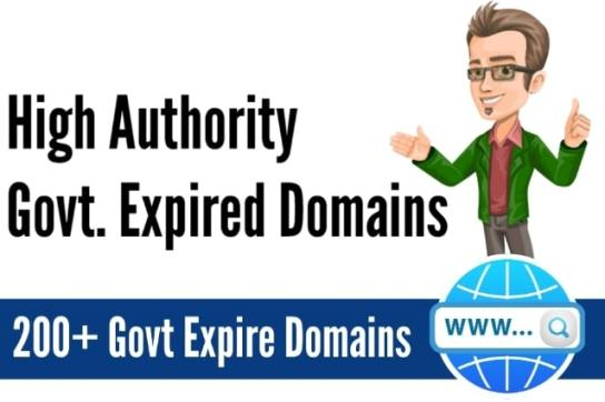 Government Expired Domain List