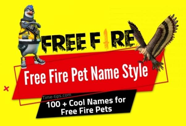 Free Fire Pet Name Style