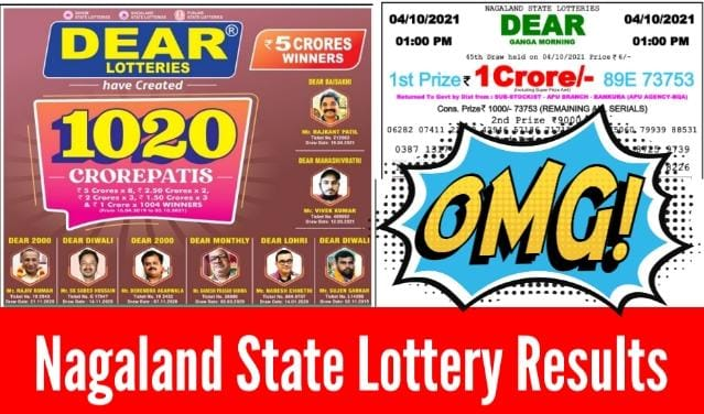 Nagaland State Lottery Result Today Pdf