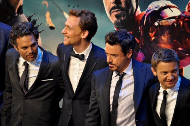Mark Ruffalo, Tom Hiddleston, Robert Downey Jr. and Jeremy Renner