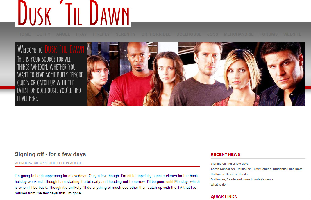Dusk 'til Dawn circa 2009
