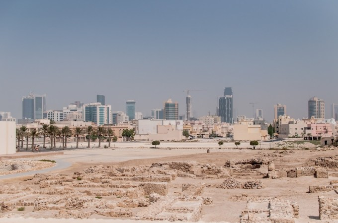 The old fort and the new, ever-growing, cityscape.