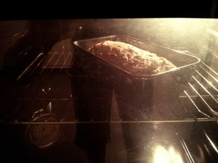 Day 153 Baking for the first time in Bahrain. My simple banana bread. Need to do something with those black bananas.