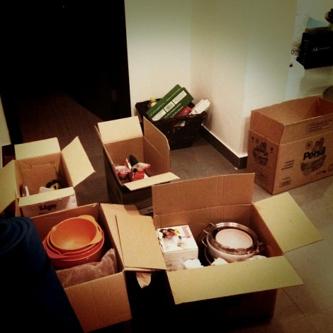 Day 213 August starts with boxes. And the realisation that most of our worldly goods are from the kitchen.