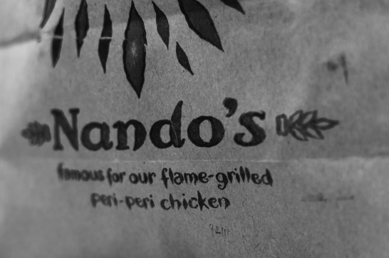 Day 255 It's the kind of evening when you can't be bothered to cook and all you want is a bit of Nandos.
