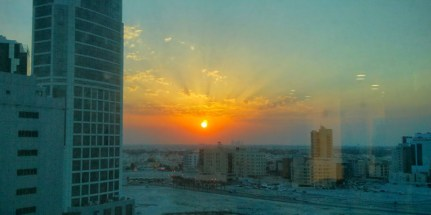 Sunset through a dirty window - not bad!