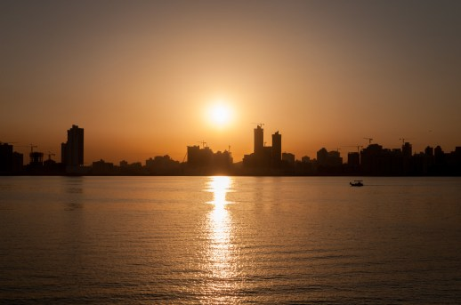 Enjoying the sunset from Prince Khalifa Bin Salman Park. Adore the sunsets in Bahrain.